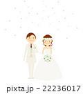 結婚式 新郎新婦 腕組み イラスト 22236017