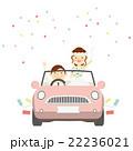 結婚式 新郎新婦 ウエディングカー イラスト 22236021