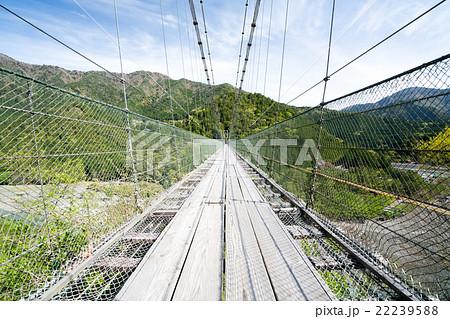 谷瀬の吊橋(奈良県十津川村の風景) 22239588