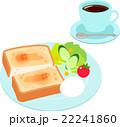 朝食 コーヒー サラダのイラスト 22241860