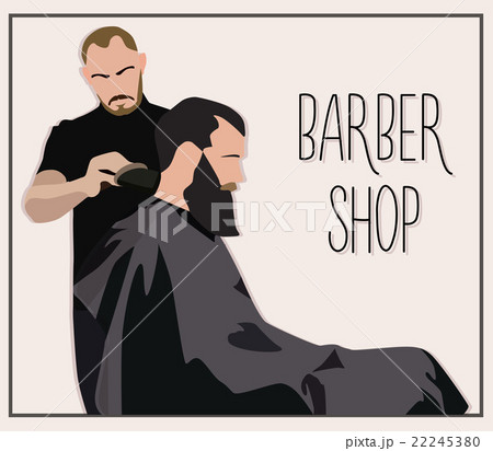 Client visiting hairstylist in barber shop 22245380