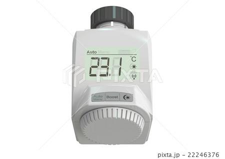 Digital radiator thermostatic valve, 3D rendering 22246376