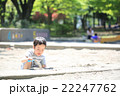 砂場遊びをする幼児 22247762