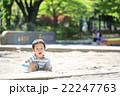 砂場遊びをする幼児 22247763
