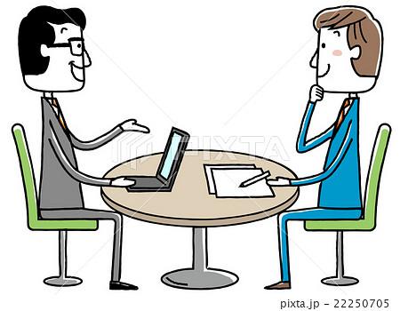 イラスト素材:ビジネス 会議 ミーティング 打ち合わせ 22250705