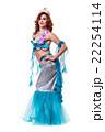 Carnival dancer woman dressed as a mermaid posing 22254114