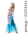 Carnival dancer woman dressed as a mermaid posing 22254241