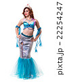 Carnival dancer woman dressed as a mermaid posing 22254247