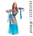 Carnival dancer girl dressed as a mermaid posing 22261032