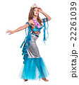 Carnival dancer girl dressed as a mermaid posing 22261039