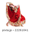 Flamenco dancer  woman posing, isolated on white 22261041