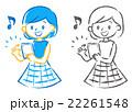 スマホ スマートフォン 女の子のイラスト 22261548