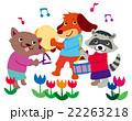 猫 犬 楽器のイラスト 22263218