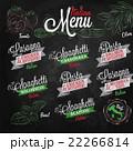 Menu Italian colours chalk 22266814
