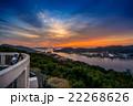 夕焼け 長崎港 風景の写真 22268626