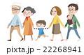 家族 ベクター 3世代のイラスト 22268941