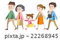 家族 ベクター 3世代のイラスト 22268945
