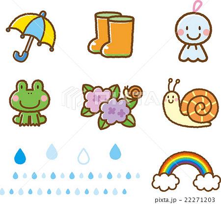 6月梅雨素材のイラスト素材 22271203 Pixta