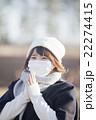 マスクの女性 22274415