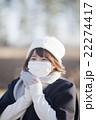 マスクの女性 22274417