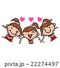 チアガール チアリーダー 女の子のイラスト 22274497