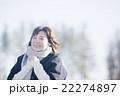 女性 冬 笑顔の写真 22274897