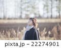 女性 冬 笑顔の写真 22274901