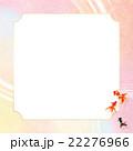フレーム 和柄 背景素材のイラスト 22276966