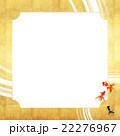 フレーム 和柄 背景素材のイラスト 22276967