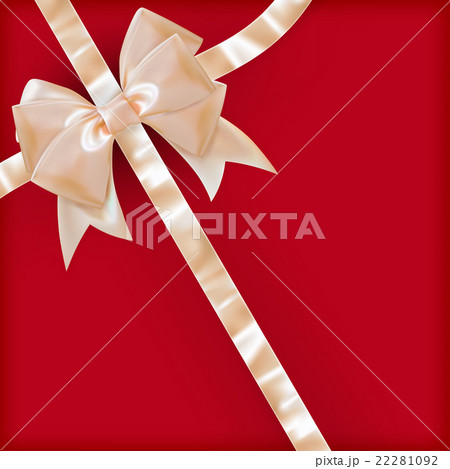Pearls color gift bow with ribbon on red eps 10 pearls color gift bow with ribbon on red eps 10 negle Image collections