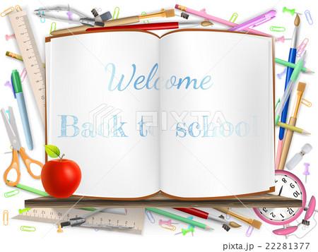 Welcome Back to school supplies. EPS 10のイラスト素材 [22281377] - PIXTA