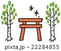 大木と鳥居(イラストマップ) 22284855