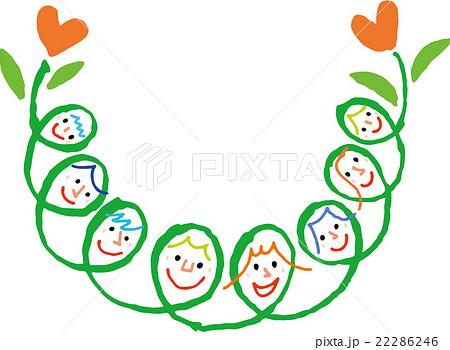 家族の花のイラスト素材 22286246 Pixta