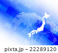 日本地図 背景 バックグラウンドのイラスト 22289120