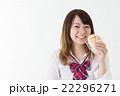 女子高生 メロンパン 食べるの写真 22296271