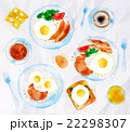 Breakfasts set eggs watercolor 22298307