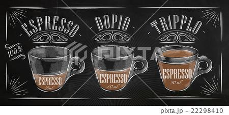 Poster espresso chalkのイラスト素材 [22298410] - PIXTA