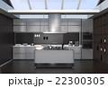 インテリア 台所 アイランドキッチンのイラスト 22300305