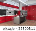 インテリア 台所 アイランドキッチンのイラスト 22300311