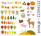 秋の森 動物たち セット 22304112