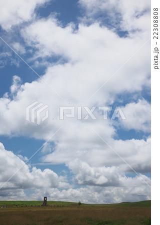 高原の地表から湧き上る雲の写真...