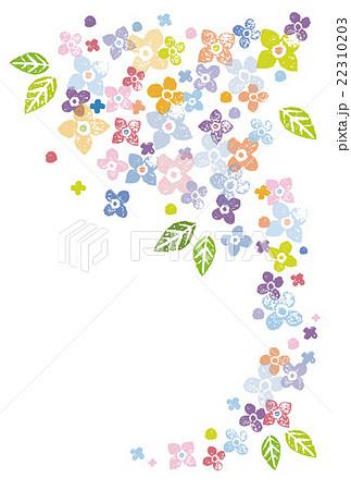 カラフルな花の飾りイラスト素材のイラスト素材 22310203 Pixta
