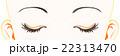 女性の目元 / 閉じ目 / 髪無し 22313470