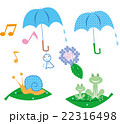 梅雨 雨傘 カエルのイラスト 22316498