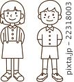 こども-男の子と女の子-ライン 22318003