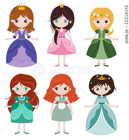 Collection of beautiful princesses.のイラスト素材 [22318142