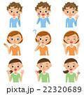 ポーズ 表情 表現のイラスト 22320689