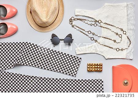 Street style Fashion summer girl clothes set. の写真素材 [22321735] - PIXTA