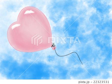 Heart shape air ballon flying in sky 22323531