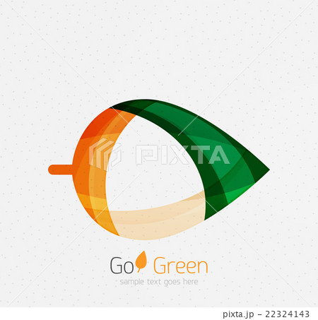 Green concept, geometric design eco leafのイラスト素材 [22324143] - PIXTA